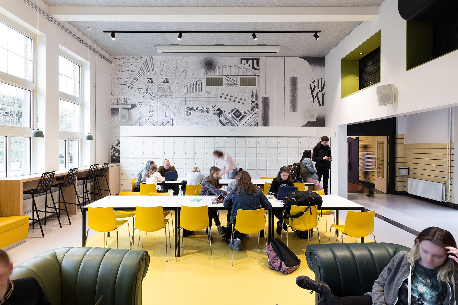 Nieuwe aula van het Stedelijk Gymnasium Nijmegen