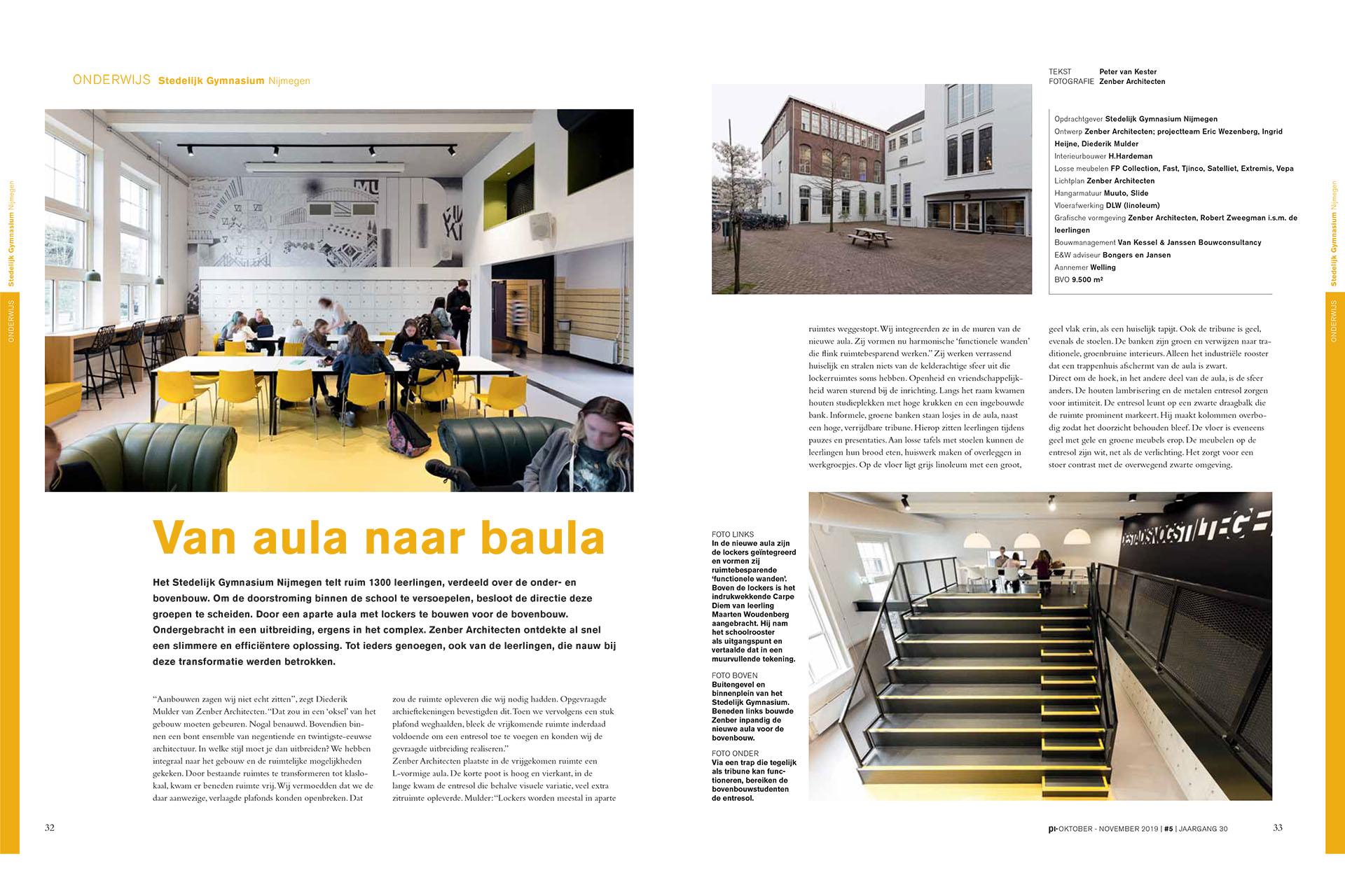 Transformatie van Stedelijk Gymnasium Nijmegen door ZENBER Architecten
