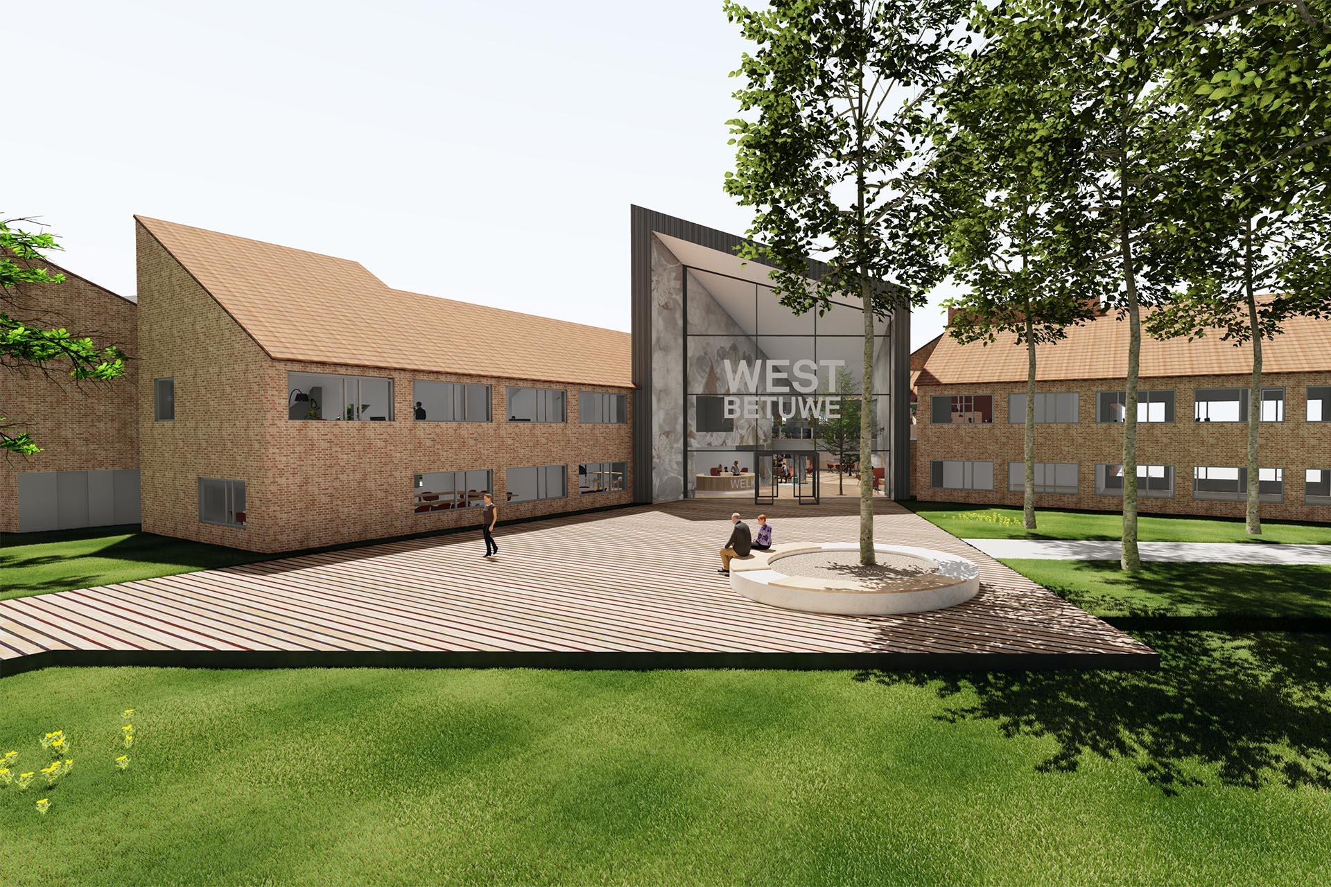 Een ontwerpvoorstel van ZENBER Architecten voor het gemeentehuis West Betuwe