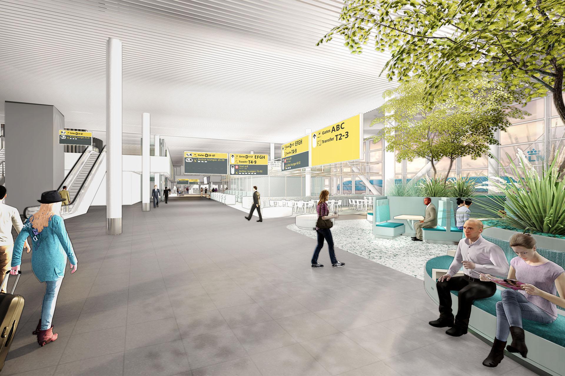 Lounge 1 Schiphol, ontwerp ZENBER Architecten