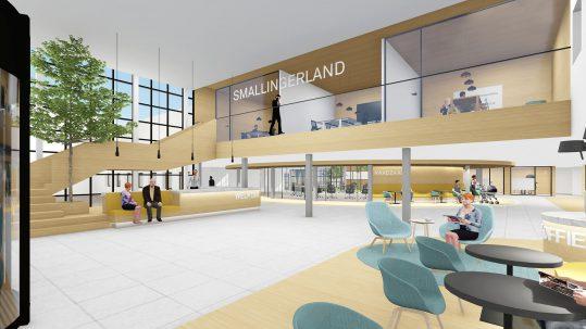 ZENBER Architecten ontwerpt een aanBeeld uit het ontwerp van ZENBER Architecten voor een publieks- en ontmoetingsgebied voor het Gementehuis Smallingerland